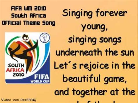 list theme song fifa world cup k naan wavin flags fifa world cup 2010 official theme