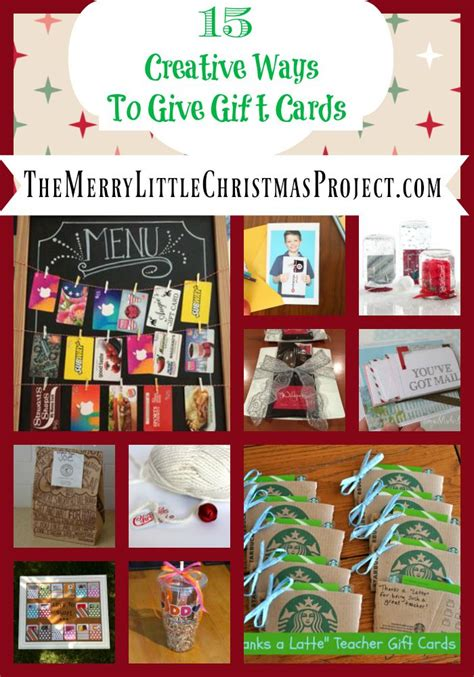 creative ways  give gift cards  merry  christmas project pinterest creative