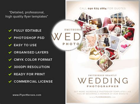 wedding photographer flyer template flyerheroes