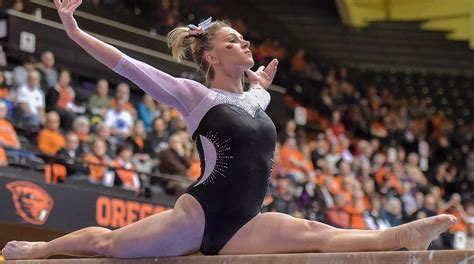Or Gymnastics Oregon State Beavers Gymnastics Sweep Past Field At