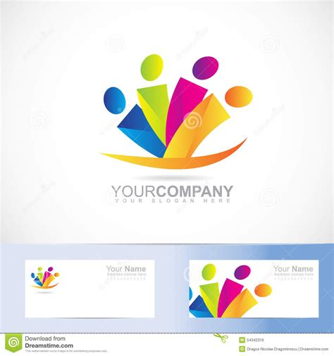 People Logo Stock Vector Image 54342316 Vector Company Logo Element Template