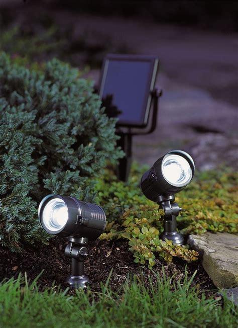 bright solar spot lights bright solar lights dual solar spotlight gardeners com