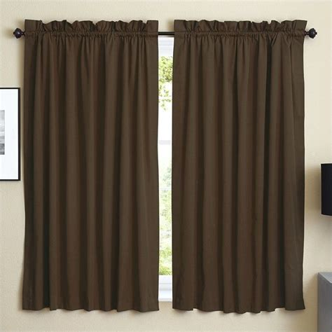 twill curtains blazing needles twill curtain panels in chocolate set of