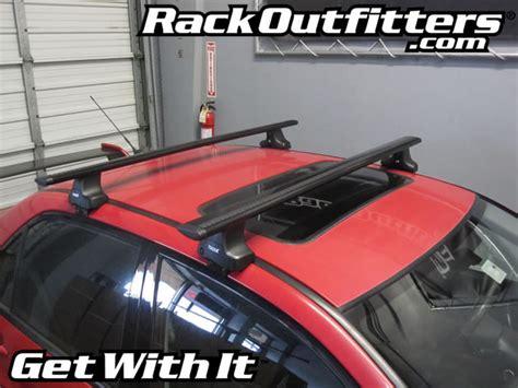 thule car roof rack for the mitsubishi lancer 4 door sedan