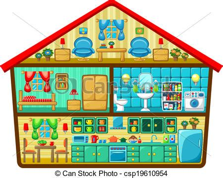 House Plans For Free by Clipart Vector Of Cartoon House In A Cut Vector Illustration Csp19610954 Search Illustration