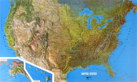 map usa relief raised relief map of the united states ncr