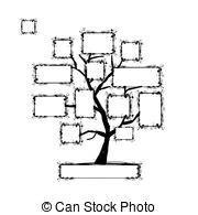 o albero testo vettore di digitale albero numeri silhouette csp5318648