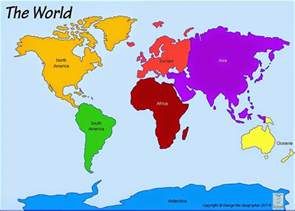 World Continents Map by Pics Photos World Map Continents