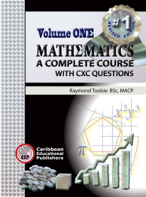 a s volume 1 books mathematics a complete course with cxc questions volume 1