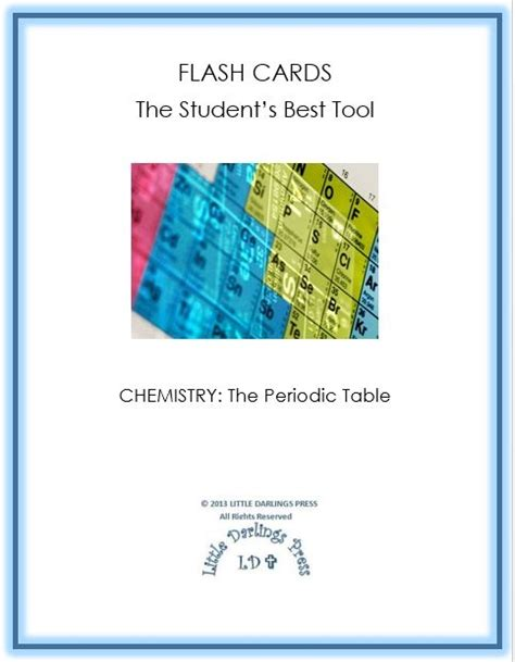 periodic table printable flash cards download free chemistry flash cards periodic table elements free