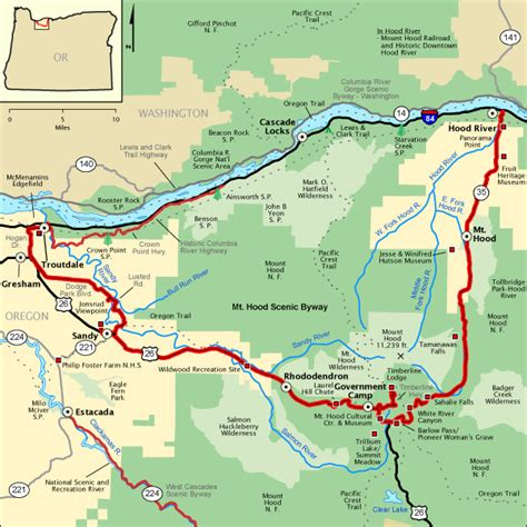 map of kahneeta oregon mt scenic byway map america s byways