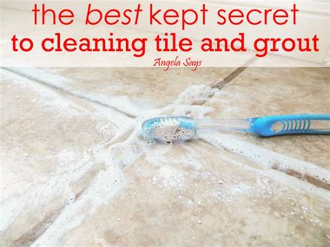 best way to clean grout in bathroom tiles the best kept secret to cleaning tile and grout angela says