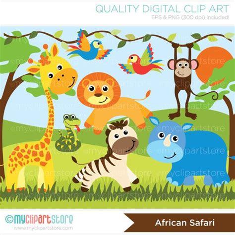 jungle clip clipart jungle animals safari digital clip