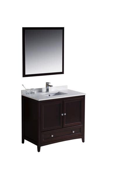36 inch bathroom sink 36 inch single sink bathroom vanity in mahogany uvfvn2036mh36