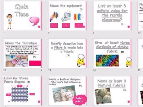 printable technology quiz gcse textiles exam revision quiz printable student