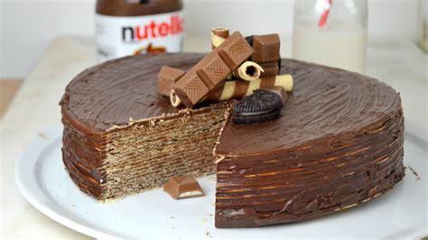 decorar tartas facil tarta de nutella y obleas 161 la tarta de chocolate m 225 s f 225 cil