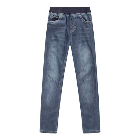 Richie house big boys blue elastic waist fashion denim pants 8