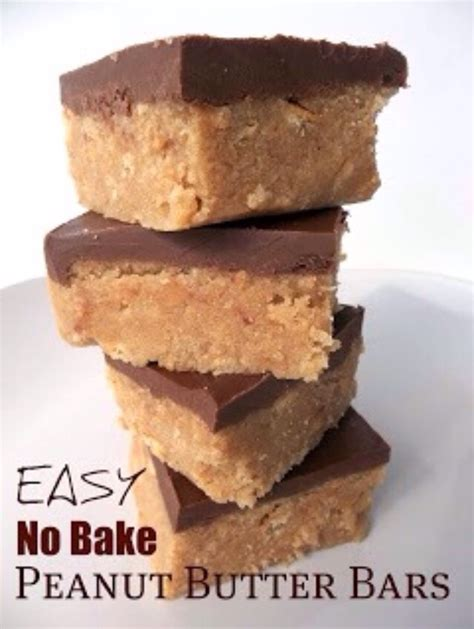 peanut butter bars with chocolate on top best no bake chocolate peanut butter bars trusper