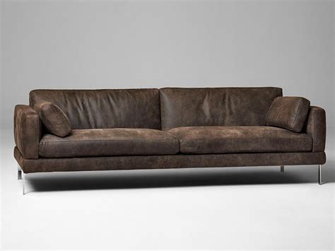 3 seater leather sofa 3 seater leather sofa mr jones by alivar design angeletti