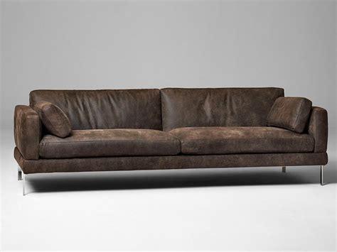 leather 3 seater sofa 3 seater leather sofa mr jones by alivar design angeletti