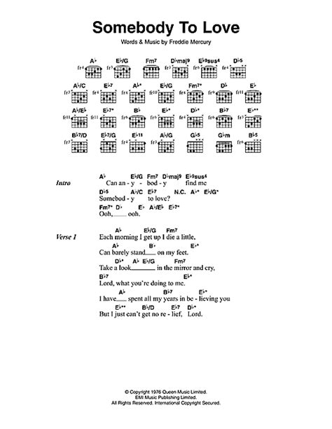 download mp3 queen somebody to love somebody to love piano sheet music queen free fred rose