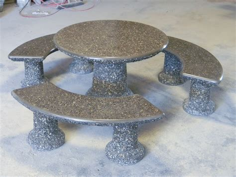 Concrete Patio Tables And Benches Designer Table Set Dominion Precast