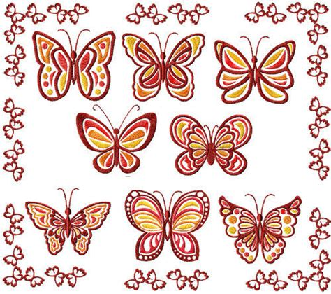 free jef designs butterflies machine embroidery designs applique 4x4 set ebay