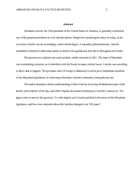 thesis abstract apa sle apa abstract for history paper wikihow