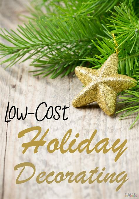 low cost holiday decorating