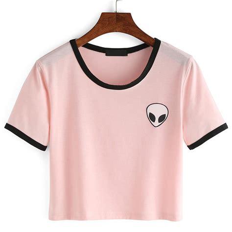 comfortable t shirts for women fashion summer kawaii design print aliens t shirts women