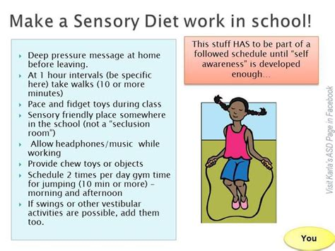 sensory diet template sensory diet at school spd