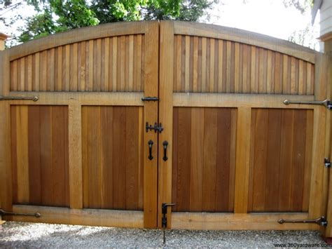Patio Door Bolt Lock Double Wooden Driveway Gate With Dark Bronze Thumb Latch