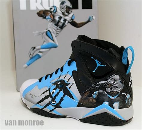 custom air jordan for carolina panthers brandon lafell by
