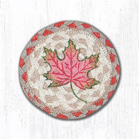 braided rug coasters autumn leaves braided coaster by capitol earth rugs the patch