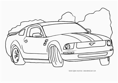 Planse de colorat masini   Ford mustang