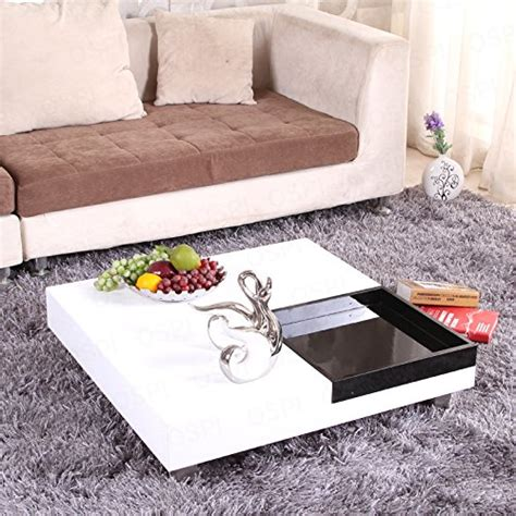 low white coffee ospi white gloss square coffee table low table with black