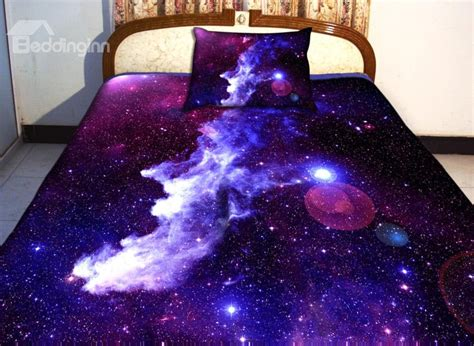 galaxy bed spread amazing purple galaxy print 4 piece duvet cover sets