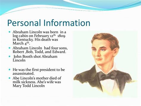 abraham lincoln biography presentation powerpoint ppt biography of abraham lincoln powerpoint presentation