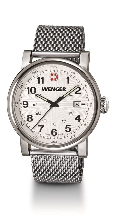 Swiss Army Sa 2215 Leather Silver Black White Ori wenger watches large white mesh bracelet