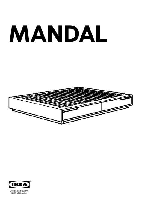 Mandal Bed Frame With Storage Mandal Bed Frame With Storage Birch White Ikea United Kingdom Ikeapedia