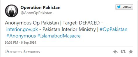 Www Interior Gov Pk by Pakistan Interior Ministry Website Hacked Effect Hacking