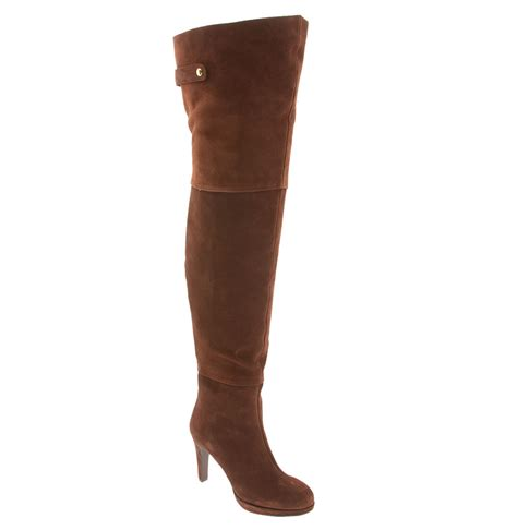 kelsi dagger briallen thigh high boot in brown chocolate