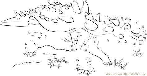 printable dot to dot dinosaurs dinosaur in park dot to dot printable worksheet connect