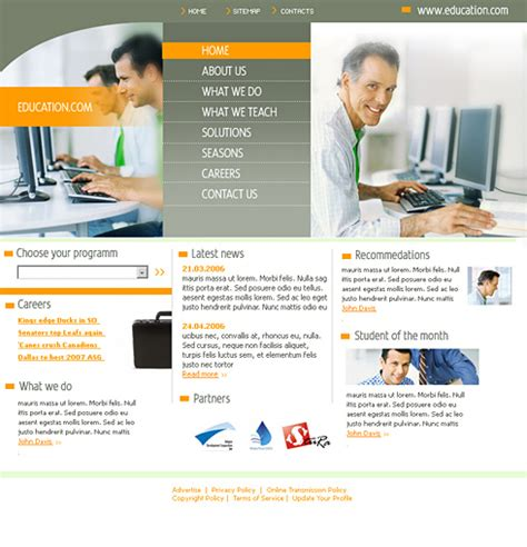 templates for website education computer education html template 0550 education kids