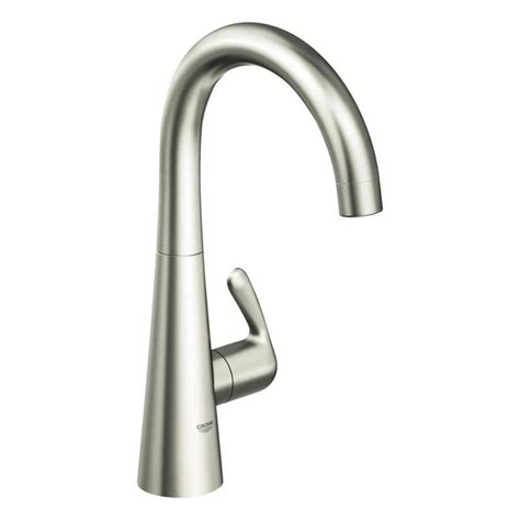 grohe kitchen faucets shop grohe ladylux supersteel high arc kitchen faucet at