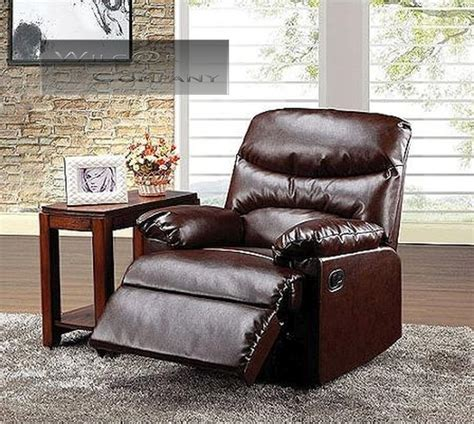 new brown leather recliner lazy chair reclining