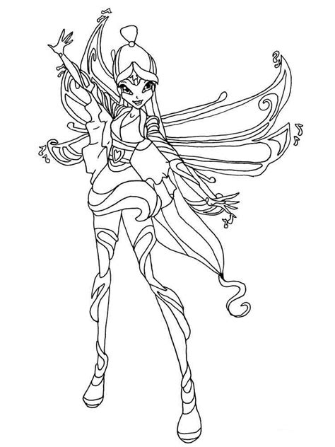 winx club doodle coloring musa winx club musa coloring pages sketch coloring page