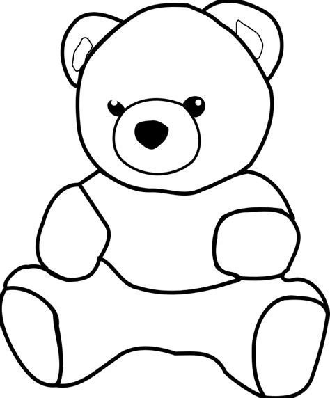 Teddy Outline Images by Teddy By Dkdlv Big And Drawable Teddy Path Has Been Simplified