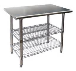 Kitchen Work Table With Shelves New Commercial Kitchen 36 Quot Stainless Work Table Chrome Wire Shelf Ebay