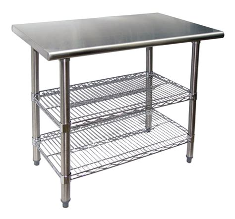 new commercial kitchen 36 quot stainless work table chrome